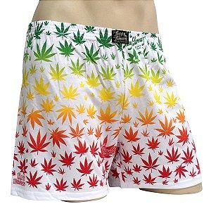 Cueca Samba Canção Cannabis Reggae Branco Ray Brown