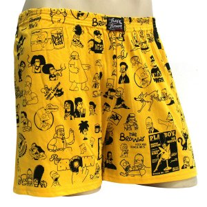 Cueca Samba Canção Simpsons Amarelo Ray Brown