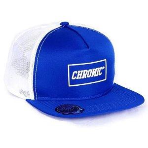Boné Chronic Aba Reta Skate Rede Original 420 Snapback Azul
