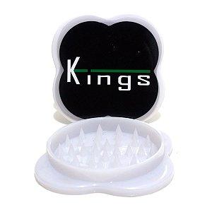 Dichavador de Policarbonato Kings Grande Triturador Branco
