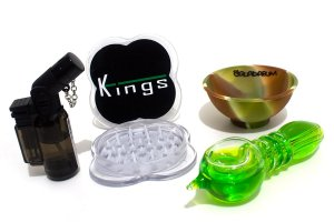 Kit Ice Pipe + Bowl Squadafum + Dichavador Kings + Isqueiro Maçarico