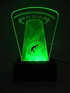 Luminária de Mesa Led Acrílico Disco Voador Bivolt Verde