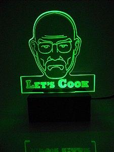 Luminária de Mesa Led Acrílico Breaking Bad Bivolt Verde