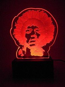 Luminária de Mesa Led Acrílico Jimmy Hendrix Bivolt Vermelho
