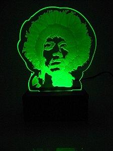 Luminária de Mesa Led Acrílico Jimmy Hendrix Bivolt Verde