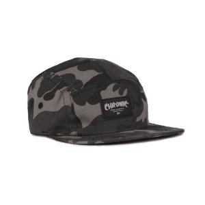 Boné Chronic 5panel Five Panel Strapback Camuflado Cinza