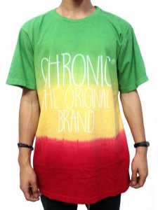 Camiseta Chronic 420 Reggae Roots Red Gold Green