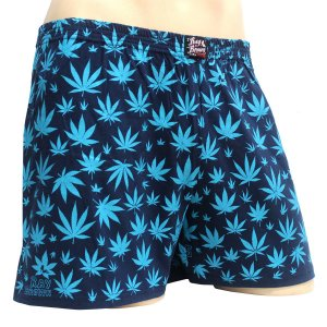 Cueca Samba Canção Cannabis Azul Ray Brown