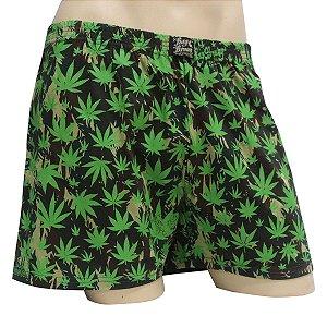 Cueca Samba Canção Cannabis Camuflada Verde Ray Brown