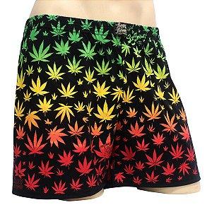 Cueca Samba Canção Cannabis Reggae Preta Ray Brown