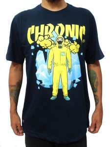 Camiseta Chronic 420 Breaking Bad Lets Cock Ng Azul Marinho