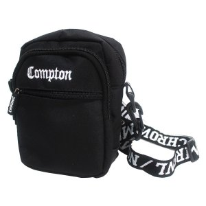 Shoulder Bag Chronic 420 Compton Bordado Preto Bolsa Pochete