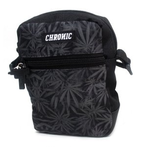 Shoulder Bag Chronic Cannabis Preto Bolsa Ombro Dupla Face