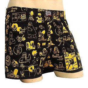 Cueca Samba Canção Simpsons Preto Amarelo Ray Brown
