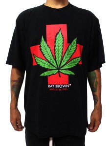 Camiseta Cannabis Medicinal Maconha Preta Ray Brown