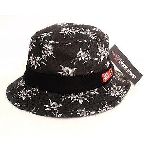 Chaéu Pescador Bucket Hat Floral Black Sheep Preto