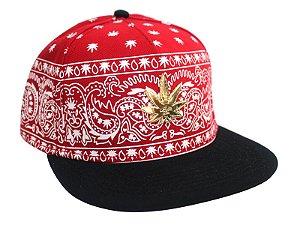 Boné Cannabis Cayler & Sons Chicano Vermelho Snapback