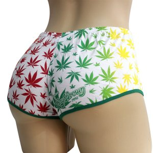 Short Cannabis Reggae Branco Marijuana Ray Brown