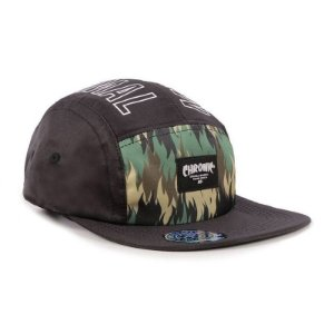 Boné Chronic 420 Five Panel Preto 5Panel Camuflado Original