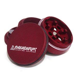Dichavador Squada High Grinder Alumínio 4 partes 4cm Vermelho