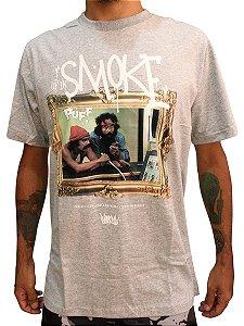 Camiseta Chronic 420 Cheech Chong Smoking Up Cinza Mescla