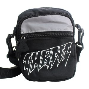 Shoulder Bag Chronic 420 Refletiva Preto Tags 3 Bolsos Ombro