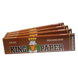 Seda King Paper Brown King Size Regular 33 Folhas - 4 Livretos