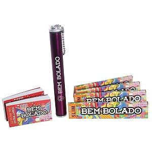 Kit Canábico Bem Bolado Tubeck + Seda Slim + Piteira Extra Large