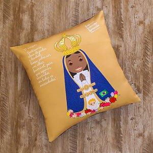 Almofada Coleção Nossa Senhora Aparecida - Dourada