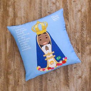 Almofada Coleção Nossa Senhora Aparecida - Azul Céu