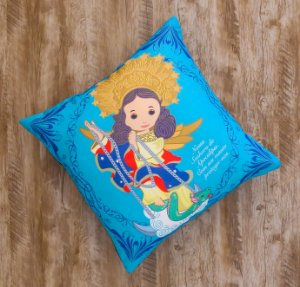 Almofada Coleção Nossa Senhora do Apocalipse Azul