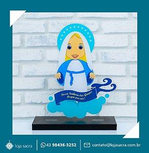 Imagem Nossa Senhora das Graças em acrílico.