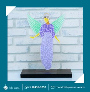 Imagem Anjo da Guarda mosaico em acrílico.