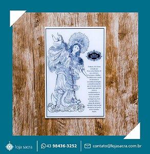 Quadro Nossa Senhora do Apocalipse Acrílico Branco
