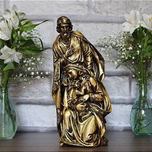 Imagem Sagrada Família Ouro Envelhecido