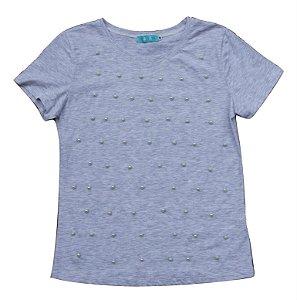 T-shirt pérolas