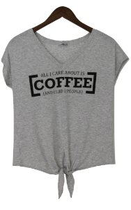 T-shirt amarrar coffee