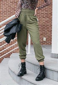 Calça lastex verde