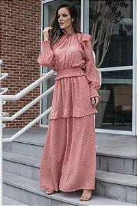 Vestido longo chiffon