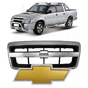 Grade Dianteira S10 e Blazer 2009 a 2011 Cromada com Emblema