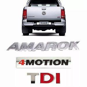 Emblema Da Tampa Traseira Amarok 4 Motion TDI
