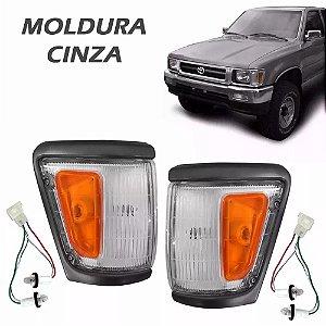 Lanterna Dianteira Pisca Hilux 4x4 1993 a 2001 Aro Cinza