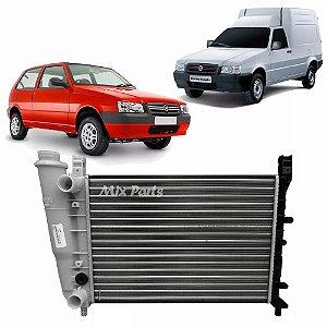 Radiador de Água do Motor Uno e Fiorino 1.0/1.3 2001 a 2012 Sem Ar
