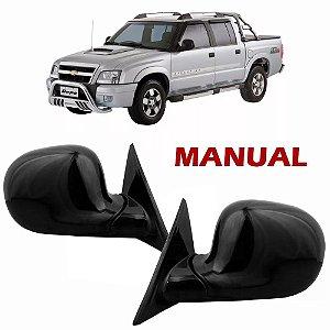 Retrovisor Externo Manual S10 e Blazer 1996 a 2011 Preto