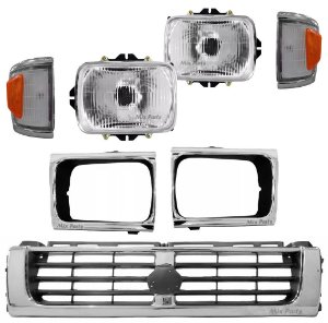 Kit Mini Frente Cromada Hilux 4x4 1993 a 2001