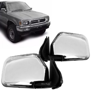 Retrovisor Manual Cromado Hilux 4x4 1993 a 2001 Pickup
