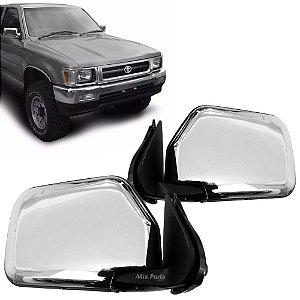 Retrovisor Manual Cromado Hilux 4x4 1993 a 2001 Pickup