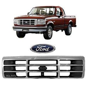 Grade Dianteira Cromada com Emblema Ford F1000 e F4000 1996 a 1998