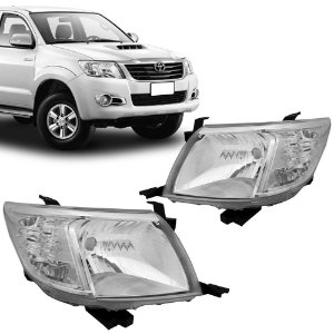 Farol Principal Cromado Toyota Hilux Pickup 2012 a 2015