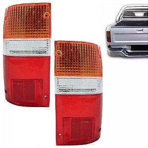 Lente da Lanterna Traseira Tricolor Toyota Hilux 1993 a 2001